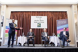 © Licensed to London News Pictures . 16/02/2017. Stoke-on-Trent, UK. Hustings in Stoke-on-Trent Central by-election at the Quality Hotel in Stoke , for local businesses with Lib Dem candidate Dr Zulfiqar Ali, Conservative candidate Jack Brereton,  Labour candidate Gareth Snell and, in place of UKIP candidate Paul Nuttall who didn't turn up , Patrick O'Flynn . Photo credit: Joel Goodman/LNP