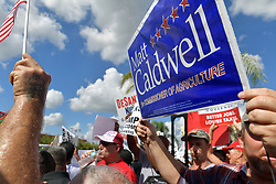 November 10, 2018 - Lauderhill, Florida, U.S. - Tempers flair as protesters gathered outside Broward Supervisor of Elections Brenda Snipes' office, at the Lauderhill Mall chanting 'lock her up,' and 'Brenda's got to go! protesters and police outside of the Broward County Supervisor Of Elections Office. (Credit Image: © SMG via ZUMA Wire)