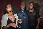 Adjoa Andoh, Cyril Nri; Ray Fearon , West End opening of RSC production of Julius Caesar at the Noel Coward Theatre on Saint Martin's Lane. After-party  at Salvador and Amanda, Gt. Newport St. London. 15 August 2012.