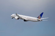 A United Airlines Boeing 787-9 Dreamliner takes off Los Angeles International Airport (LAX) on Friday, February 28, 2020 in Los Angeles. (Brandon Sloter/Image of Sport)