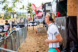 Finn McGill of Hawaii ready for heat 3 round 2 of the Hawaiian Pro at Haleiwa, Oahu, Hawaii, USA.