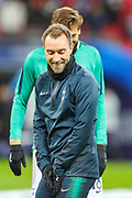 Tottenham Hotspur midfielder Christian Eriksen (23) during the Champions League group stage match between Tottenham Hotspur and Inter Milan at Wembley Stadium, London, England on 28 November 2018.