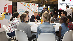 March 8, 2019 - Utrecht, Netherlands - 08-03-2019 Utrecht King Willem-Alexander staatssecretaris Paul Blokhuis (Volksgezondheid) during the start of the Health week at the Werkspoor Cathedral in Utrecht..A healthy lifestyle will be stimulated during this week at schools, associations and in community centers. (Credit Image: © face to face via ZUMA Press)