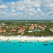 Aerial view of Playacar in Playa del Carmen. Quintana Roo, Mexico.