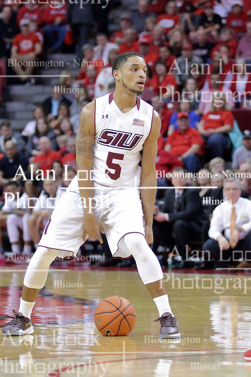 22 February 2017:  Leo Vincent during a College MVC (Missouri Valley conference) mens basketball game between the Southern Illinois Salukis and Illinois State Redbirds in  Redbird Arena, Normal IL