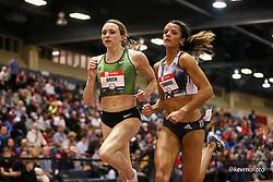 2020 USATF Indoor Championship<br /> Albuquerque, NM 2020-02-14<br /> photo credit: © 2020 Kevin Morris<br /> womens 800m, Nike OTC, adidas
