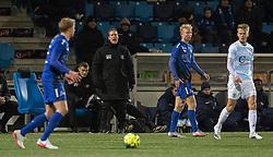 Cheftræner Morten Eskesen (FC Helsingør) under kampen i 1. Division mellem HB Køge og FC Helsingør den 4. december 2020 på Capelli Sport Stadion i Køge (Foto: Claus Birch).