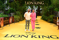 Marvin Humes and Rochelle Humes attending Disney's The Lion King European Premiere held in Leicester Square, London.