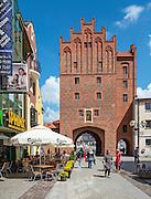 Olsztyn, 2014-05-18. Średniowieczna Brama Górna (Wysoka Brama). Jedyna zachowana brama w średniowiecznych murach obronnych Olsztyna.