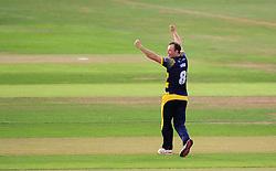 Graham Wagg of Glamorgan celebrates the wicket of James Hildreth.  - Mandatory by-line: Alex Davidson/JMP - 22/07/2016 - CRICKET - Th SSE Swalec Stadium - Cardiff, United Kingdom - Glamorgan v Somerset - NatWest T20 Blast