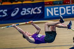 Rik Taam in action on pole vault during the Dutch Athletics Championships on 14 February 2021 in Apeldoorn