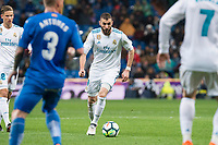 Real Madrid Karim Benzema during La Liga match between Real Madrid and Getafe CF  at Santiago Bernabeu Stadium in Madrid , Spain. March 03, 2018. (ALTERPHOTOS/Borja B.Hojas)