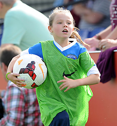 Ball Girl - Photo mandatory by-line: Dougie Allward/JMP - Mobile: 07966 386802 - 28/09/2014 - SPORT - Women's Football - Bristol - SGS Wise Campus - Bristol Academy Women's v Manchester City Women's - Women's Super League