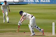 James Faulkner strikes the ball during the LV County Championship Div 2 match between Gloucestershire County Cricket Club and Lancashire County Cricket Club at the Bristol County Ground, Bristol, United Kingdom on 7 June 2015. Photo by Alan Franklin.
