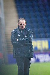Morton's manager Kenny Shiels.<br /> Falkirk 1 v 1 Morton, Scottish Championship game today at The Falkirk Stadium.<br /> © Michael Schofield.
