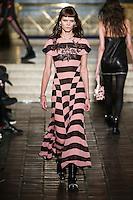 Irina Kravchenko walks the runway wearing Alexander Wang Fall 2016 during New York Fashion Week on February 13, 2016
