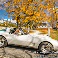 Canterbury Shaker Village in the Fall. All Content is Copyright of Kathie Fife Photography. Downloading, copying and using images without permission is a violation of Copyright. Vintage Car Show.