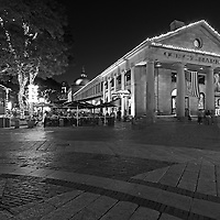 Boston B&W photography of the famous Quincy Market in Downtown Boston. This historic and iconic New England city of Boston night scenery photography image is available as museum quality photography prints, canvas prints, acrylic prints or metal prints. Fine art prints may be framed and matted to the individual liking and decorating needs:<br /> <br /> http://juergen-roth.pixels.com/featured/boston-quincy-market-juergen-roth.html<br /> <br /> Good light and happy photo making! <br /> <br /> My best, <br /> <br /> Juergen<br /> Website: www.RothGalleries.com<br /> Twitter: @NatureFineArt<br /> Facebook: https://www.facebook.com/naturefineart<br /> Instagram: https://www.instagram.com/rothgalleries<br /> Photo Blog: http://whereintheworldisjuergen.blogspot.com