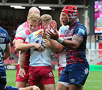 Rugby Union - 2020 / 2021 Gallagher Premiership - Semi-Final - Bristol Bears vs Harlequins - Ashton Gate<br /> <br /> Tyrone Green of Harlequins celebrates his extra time to try with team mates<br /> <br /> Credit : COLORSPORT/Andrew Cowie