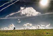Nederland, Groede, Zeeland, 17-9-2019In de duinen langs de Noordzee in Zeeuws Vlaanderen. Het is naseizoen en daardoor zijn er veel toeristen, vooral uit duitsland . Er wordt gefietst en gewandeld in het duinengebied richting Breskens.Foto: Flip Franssen