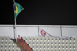 Vista de uma bandeira colorada abandonada após derrota na partida entre as equipes do S. C. Internacional do Brasil e Mazembe da Africa no Mohammed Bin Zayed Stadium. O Internacional participa de 8 a 18 de dezembro do Mundial de Clubes da FIFA, em Abu Dhabi. FOTO: Jefferson Bernardes/Preview.com