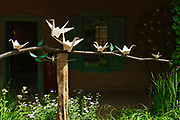 """""""Gathering Peace"""" in the garden at Kay Contemporary Art in Santa Fe."""