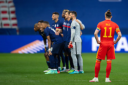 NICE, FRANCE - Wednesday, June 2, 2021: Wales' captain Gareth Bale waits for the France players to take a pre-match team photo during an international friendly match between France and Wales at the Stade Allianz Riviera ahead of the UEFA Euro 2020 tournament. (Pic by Simone Arveda/Propaganda)