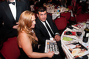 TAMER HASSAN; DAMILLA STOREY, Specsavers Crime Thriller Awards.  Award ceremony celebrating the best in crime fiction and television. <br /> Grosvenor House Hotel, Park Lane, London. 21 October 2009