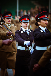 Jordan's Princess Salma (center) seen during the Cadets' Parade at Sandhurst Military Academy, in Sandhurst, United Kingdom, on November 25, 2018. Photo by Balkis Press/ABACAPRESS.COM