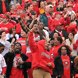 Oct 31, 2009; East Hartford, CT, USA; Fans celebrate Rutgers wide receiver Tim Brown's game winning touchdown reception during second half Big East NCAA football action in Rutgers' 28-24 victory over Connecticut at Rentschler Field.