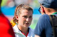 RIO DE JANEIRO - Julia Muller (Ger)    after the quarterfinal   hokey women USA-Germany (0-2). COPYRIGHT KOEN SUYK