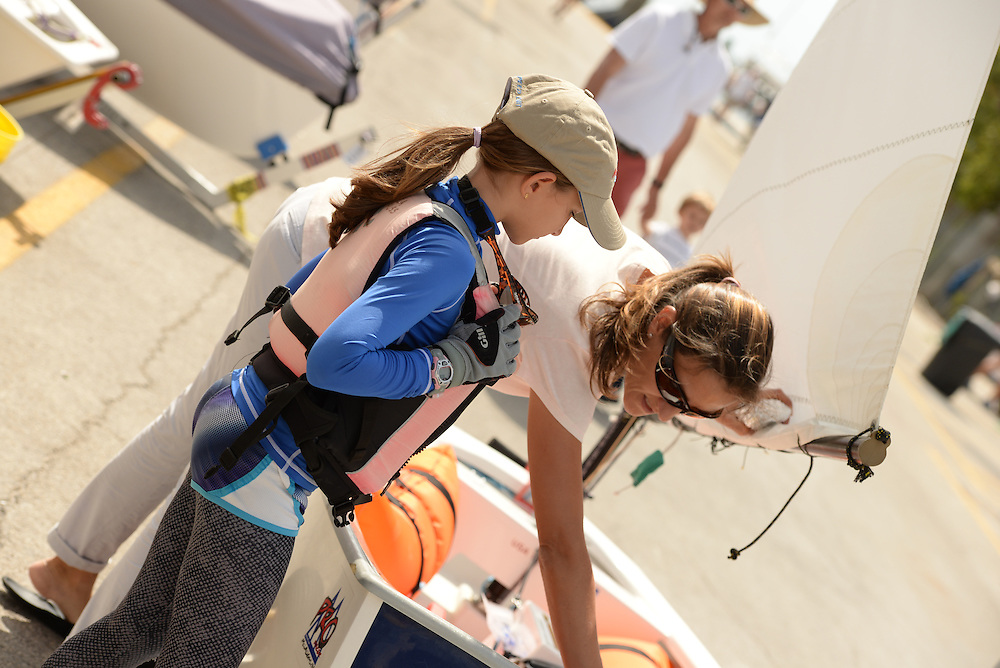 Clinic prior to 2014 Spring Fling at Coral Reef Yacht Club in Coconut Creek, Miami, Naples Community Sailing Center, Daniela Dreyfuss,