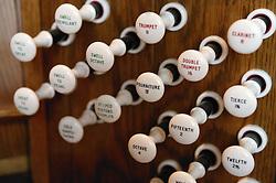 Church organ controls,