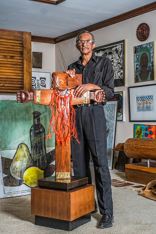 Artist Ted Jones in his home in Nashville, Tennessee.