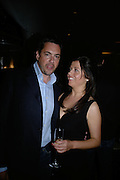 ALISON JACQUES AND NICHOLAS FITCH, private view  of new exhibition by Stoner , Alison Jacques Gallery in new premises in Berners St., London, W1 ,Afterwards across the rd. at the Sanderson Hotel. 3 May 2007. DO NOT ARCHIVE-© Copyright Photograph by Dafydd Jones. 248 Clapham Rd. London SW9 0PZ. Tel 0207 820 0771. www.dafjones.com.