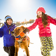 Lifestyle shoots at Kirkwood Mountain Resort with the Steeves family (1st) and the Sariego family.