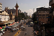 City life in the biggest city of Myanmar, Burma.<br /> Note: These images are not distributed or sold in Portugal