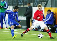 Fotball , 15. oktober 2013 , U21 ,  Norge - Israel<br /> Norway - Israel 1-3<br /> Mats Møller Dæhli , Norge<br /> Ahed Azzam , Israel