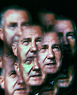 An impressionistic view of Vice President Spiro Agnew in December 1969.  Actually this was made with a Spiraton lens  which was popular at that time.  photo by Dennis Brack bb72