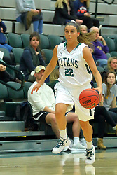 06 December 2017:  Nina Anderson during an NCAA women's basketball game between the Wheaton Thunder and the Illinois Wesleyan Titans in Shirk Center, Bloomington IL