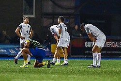 Dejected Toulouse players at the final whistle after their defeat to Cardiff Blues- Mandatory by-line: Craig Thomas/JMP - 14/01/2018 - RUGBY - BT Sport Cardiff Arms Park - Cardiff, Wales - Cardiff Blues v Toulouse - European Rugby Challenge Cup