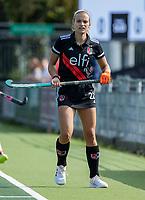 AMSTELVEEN -  Kira Horn (Amsterdam)  tijdens de hockey hoofdklasse competitiewedstrijd  dames, Amsterdam-Oranje Rood (2-1).  COPYRIGHT KOEN SUYK