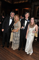 Left to right, ROBERT BENSOUSSAN, SOPHIA SWIRE, PETER HUNTER and DANIELLA PAGET at a dinner in aid of Caring For Courage - The Royal Scots Dragoon Guards Afghanistan Welfare Appeal held at The Royal Hospital Chelsea, London SW3 on 20th October 2011.