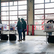 South Carolinians vote in the presidential primary at the Columbia Fire Department Station 9 in Columbia, S.C., on Saturday, February 29, 2020.