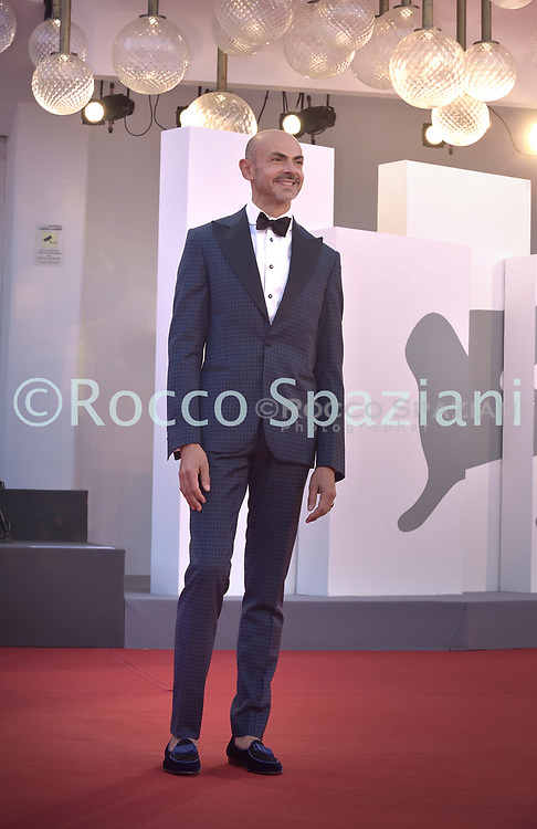 """VENICE, ITALY - SEPTEMBER 10: Enzo Miccio walks the red carpet ahead of the movie """"Nuevo Orden"""" (New Order) at the 77th Venice Film Festival on September 10, 2020 in Venice, Italy.<br /> (Photo by Rocco Spaziani)"""