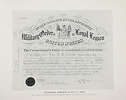 """Honorary Appointment of General U. S. Grant from The American Civil War book and Grant album : """"art immortelles"""" : a portfolio of half-tone reproductions from rare and costly photographs designed to perpetuate the memory of General Ulysses S. Grant, depicting scenes and incidents in connection with the Civil War Published  in Boston and New York by W. H. Allen in 1894"""