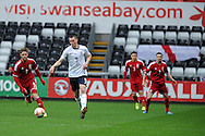 Michael Keane of England in action. UEFA 2015 European U21 championship, group one qualifier , Wales u21 v England u21 at the Liberty Stadium in Swansea, South Wales on Monday 19th May 2014. <br /> pic by Andrew Orchard, Andrew Orchard sports photography.