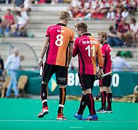 ROTTERDAM - Joep de Mol (Oranje-Rood) met Mink van der Weerden (Oranje-Rood)  tijdens de wedstrijd om de derde plaats tegen Oranje Rood bij de ABN AMRO cup. COPYRIGHT KOEN SUYK
