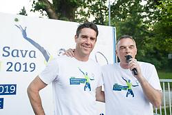 Gregor Krusic, Gasper Bolhar, Drzavno prvenstvo novinarjev v tenisu 2019, on June 12, 2019 in Tivoli, Ljubljana, Slovenia. Photo by Saso Pahic Szabo / Sportida