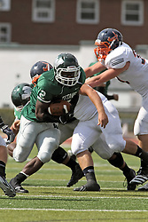 28 September 2013:  Devonte Jones during an NCAA division 3 football game between the Hope College Flying Dutchmen and the Illinois Wesleyan Titans in Tucci Stadium on Wilder Field, Bloomington IL